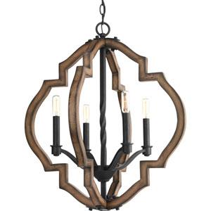 Spicewood Gilded Iron Four-Light Pendant