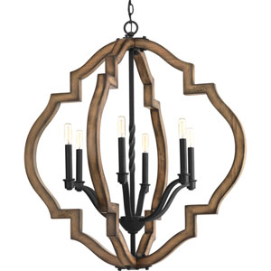 Spicewood Gilded Iron Six-Light Pendant