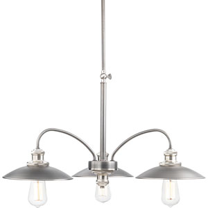 Archives Antique Nickel Three-Light Chandelier