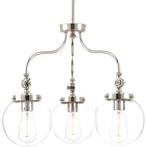 Penn Polished Nickel Three-Light Chandelier