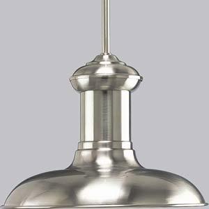 P5024-09:  Brookside Brushed Nickel One-Light Pendant