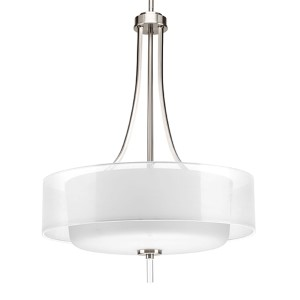 Invite Brushed Nickel Four-Light Hall and Foyer Pendant