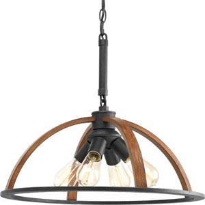 Trestle Gilded Iron 20-Inch Four-Light Pendant