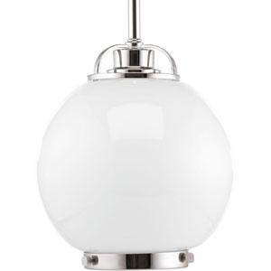 Chronicle Polished Nickel 8-Inch One-Light Mini Pendant
