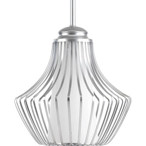Finn Metallic Silver 10-Inch One-Light Pendant