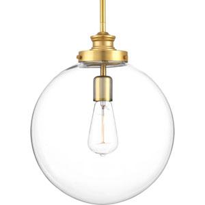 Penn Natural Brass One-Light Pendant