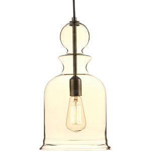 Staunton Antique Bronze 16-Inch One-Light Mini Pendant