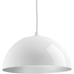 Dome White LED 10-Inch One-Light Pendant