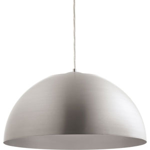 Dome Satin Aluminum LED 22-Inch One-Light Pendant