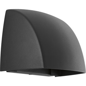 Cornice Black LED Five-Inch One-Light Outdoor Wall Sconce