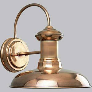 P5722-14:  Brookside Copper One-Light Outdoor Wall Lantern
