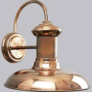 P5723-14:  Brookside Copper One-Light Outdoor Wall Lantern