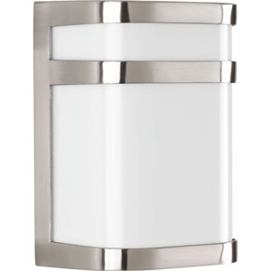 Valera Brushed Nickel LED Six-Inch One-Light Outdoor Wall Sconce