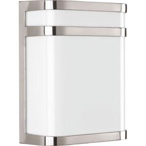 Valera Brushed Nickel LED Nine-Inch One-Light Outdoor Wall Sconce