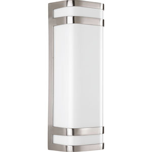 Valera Brushed Nickel LED Two-Light Outdoor Wall Sconce