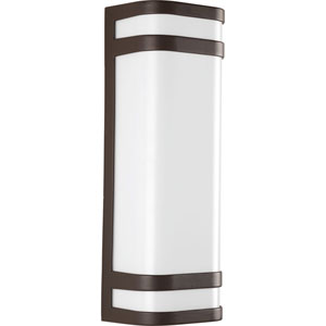 Valera Architectural Bronze LED Two-Light Outdoor Wall Sconce