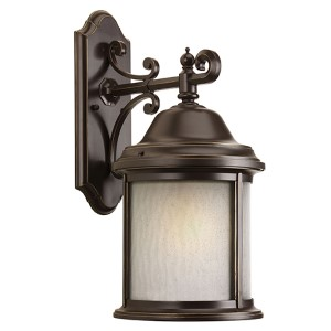 Ashmore Antique Bronze One-Light Fluorescent Outdoor Wall Sconce