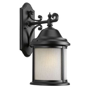 Ashmore Black One-Light Fluorescent Outdoor Wall Sconce