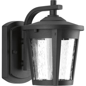 East Haven Black LED Six-Inch One-Light Outdoor Wall Sconce