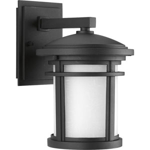 Wish Black LED Seven-Inch One-Light Outdoor Wall Sconce