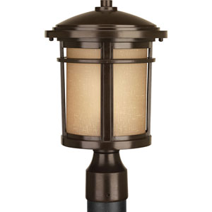 Wish Antique Bronze One-Light Outdoor Post Light