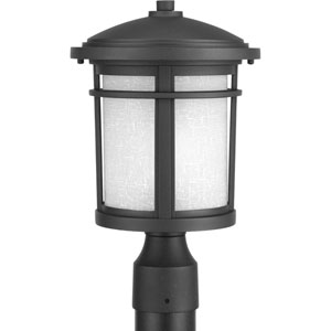 Wish Black One-Light Outdoor Post Light