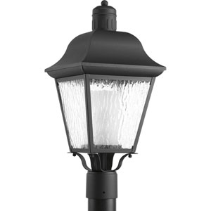 Andover Black One-Light Outdoor Post Light