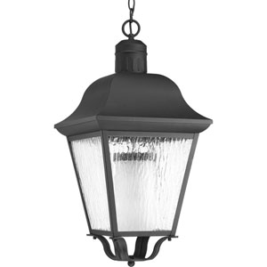Andover Black One-Light Outdoor Pendant