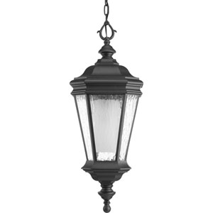 Crawford Black One-Light Outdoor Pendant