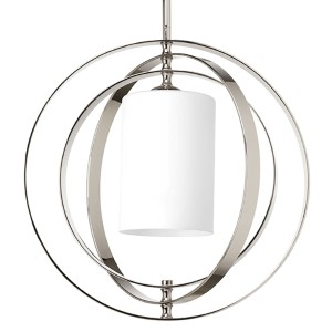 Equinox Polished Nickel One-Light Medium Hall and Foyer Pendant