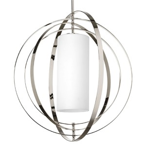 Equinox Polished Nickel Two-Light Large Hall and Foyer Pendant
