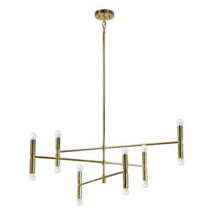 Axis Gold Ten-Light Pendant