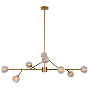 Damas Antique Gold Eight-Light Pendant