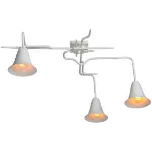 Piedmont White Three-Light Pendant