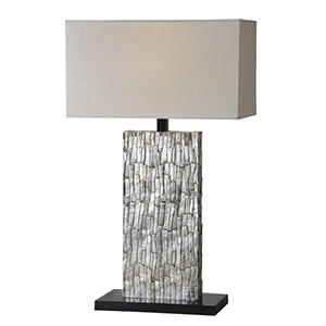 Santa Fe Silver Leaf 28-Inch One Light Table Lamp