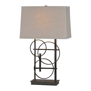 Aria Antique Bronze 26-Inch One Light Table Lamp