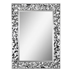 Couture Chrome 30-Inch Rectangular Mirror