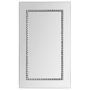 Embedded Jewels Chrome 24-Inch Rectangular Mirror