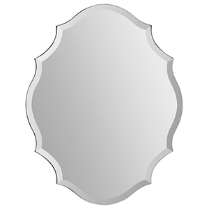 Emma All Glass 28-Inch Frameless Mirror