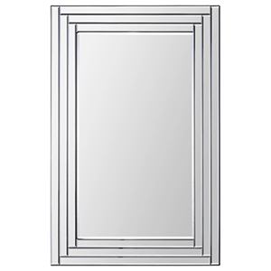 Edessa All Glass 36-Inch Rectangular Mirror
