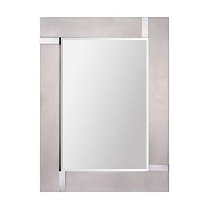 Capiz Silver Leaf 40-Inch Rectangular Mirror