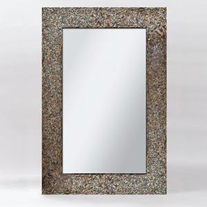 Amber Mosaic Black Mosaic Rectangular Mirror