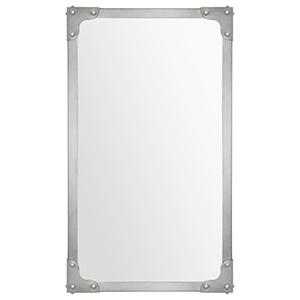 Tia Satin Nickel 40-Inch Rectangular Mirror