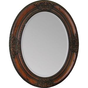 Cherry Chelseas Cherry Wood 24-Inch Oval Mirror