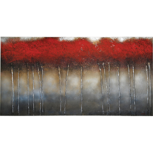 Crimson Forest by Patrick St. Germain : 60 x 30 Wall Art