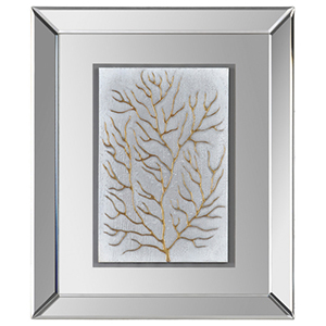 Branching out II Glass 24-Inch Alternative Wall Decor