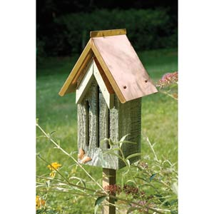 Butterfly Bell Grey Whitewash with Solid Copper Roof Butterfly House
