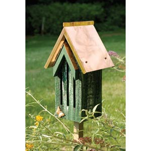 Butterfly Bell Green with Whitewash with Solid Copper Roof Butterfly House