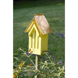 Butterfly Bell Yellow With Solid Copper Roof Butterfly House