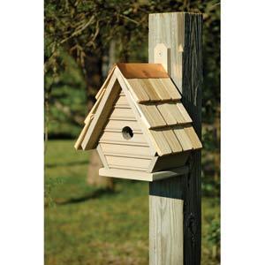 Chick Smoke Grey Birdhouse